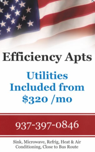 Efficiency Apts from $320